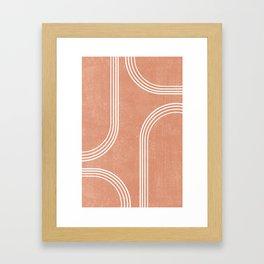 Mid Century Modern 2 - Geometrical Abstract - Minimal Print - Terracotta Abstract - Burnt Sienna Framed Art Print