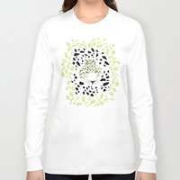 leopard Long Sleeve T-shirts featuring Leopard by Ornaart