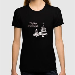 Abstract White Trees - Red 42 T-shirt