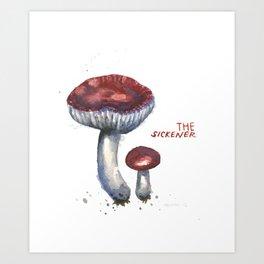 The Sickener Mushroom Art Print