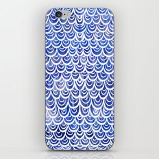 Watercolor Mermaid Blue Sapphire iPhone & iPod Skin