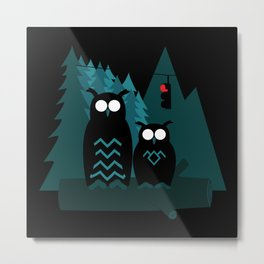 the Owls are Not what they Seem Metal Print