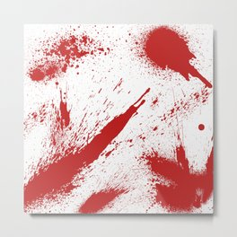 Bloody Blood Spatter Halloween Metal Print