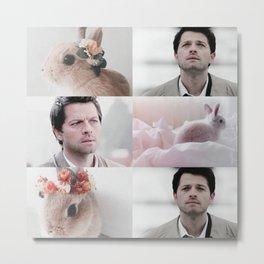castiel + bunnies aesthetic Metal Print