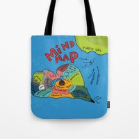 uncharted Tote Bags featuring Uncharted Waters by miumau