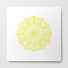 Mandala 12 / 4 eden spirit yellow Metal Print