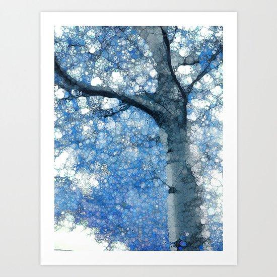 Magic Blue Tree Art Print