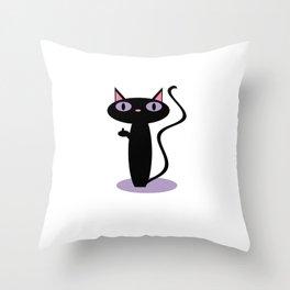 Standing Birdie Cat Throw Pillow