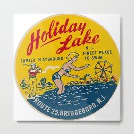 holiday lake summer 1950s 1960s nostalgic Metal Print