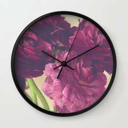 Romantic Ranunculus Wall Clock