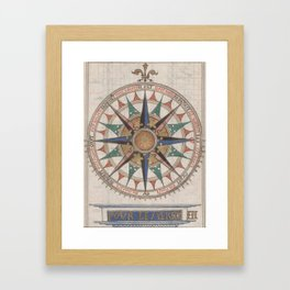 Historical Nautical Compass (1543) Framed Art Print