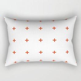 PLUS ((cherry red on white)) Rectangular Pillow