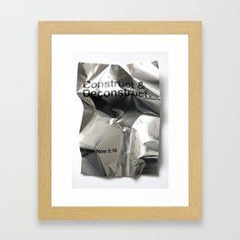 Construct & Deconstruct Framed Art Print
