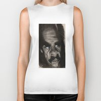 nick cave Biker Tanks featuring Nick Cave by Patrick Dea