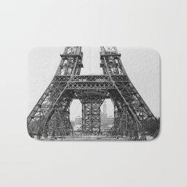 Eiffel Tower Construction Bath Mat