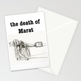 The death of Marat - Tablet version Stationery Cards