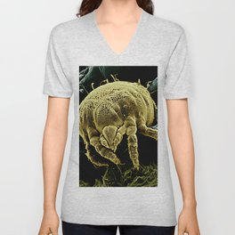 Yellow mite (Tydeidae) Unisex V-Neck