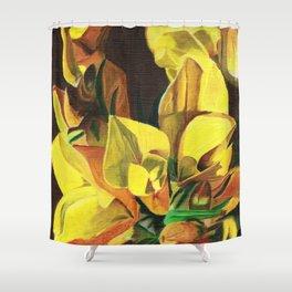 Golden Gorse Flowers Shower Curtain