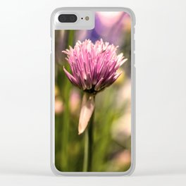 Chive herb Clear iPhone Case