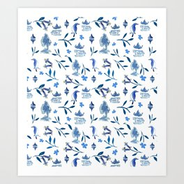 Chinoiserie by Anna Art Print