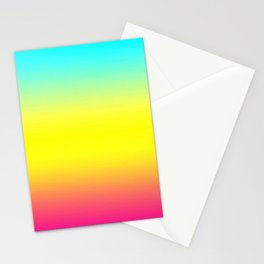 Ombre Magical Rainbow Unicorn Colors Stationery Cards