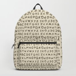 ABC in Cream Backpack