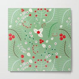 Mistletoe green Metal Print