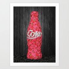Flower Coke Art Print