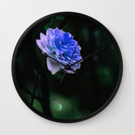 Blue Rose Wall Clock