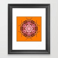 Button Framed Art Print