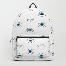 Evil Eye Pattern Backpack
