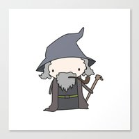 gandalf Canvas Prints featuring Gandalf by Justin Temporal