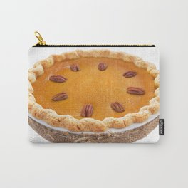 Homemade pumpkin pie isolated on white Carry-All Pouch