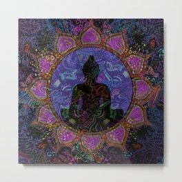 Buddha in Spirits Metal Print