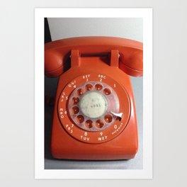 Orange Phone Art Print