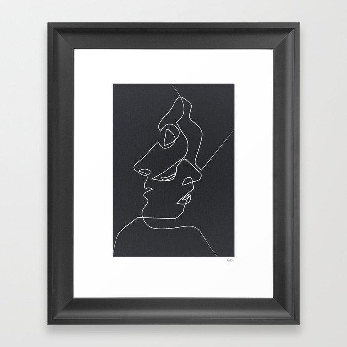 Close Noir Gerahmter Kunstdruck