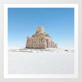 Dakar Rally Bolivia monument Art Print