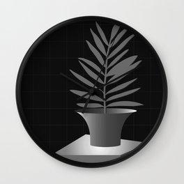 Lola Pot #2 Black Wall Clock