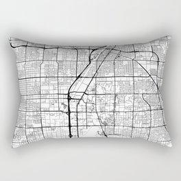 Las Vegas Map White Rectangular Pillow