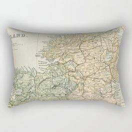 Encyclopedia Retro Map of Northern Ireland Rectangular Pillow