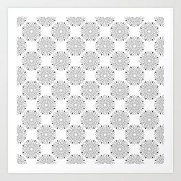 Kitchen cutlery outlined circles Art Print