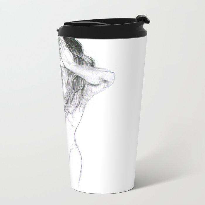 Rabbit Ghost Metal Travel Mug