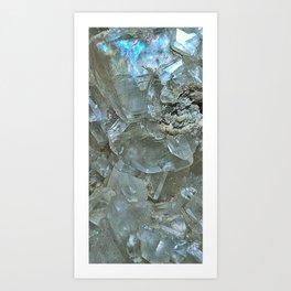 White Calcite Art Print
