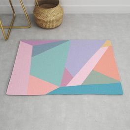 Fractured Triangles in Playful Color Rug