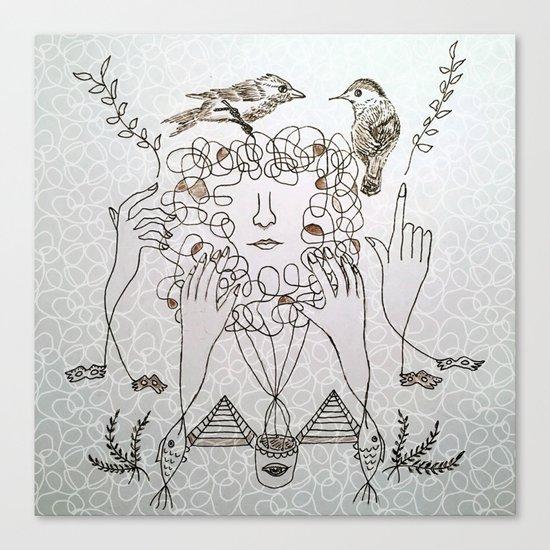 maze face Canvas Print