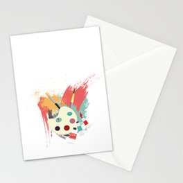 I Arted Funny Artist  Stationery Cards