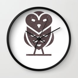 Evil Owl Wall Clock