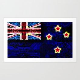 circuit board new zealand (flag) Art Print
