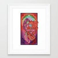 evangelion Framed Art Prints featuring Evangelion - Mari and Asuka  by Morgane Grosdidier de Matons