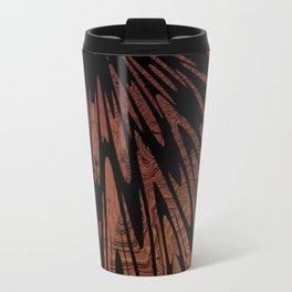 Native Tapestry in Burnt Umber Travel Mug